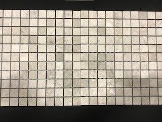gray, tan limestone Arctic Gray Limestone 1x1 by daltile