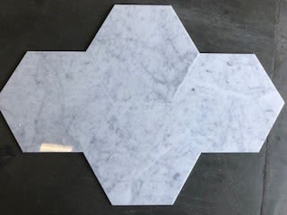 gray, white marble Hex Carrara White by daltile