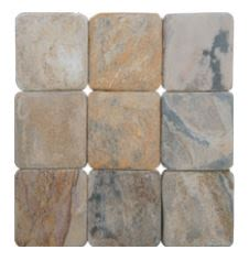 tan, white, beige natural stone AUTUMN TUMBLE NATURAL SLATE by daltile