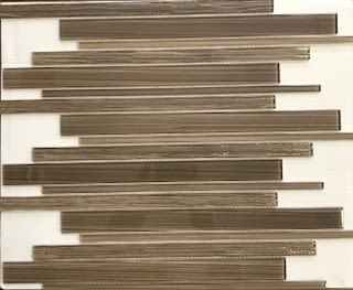 brown, tan, white glass Cappuccino Home Source by daltile