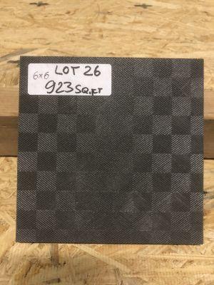 black porcelain Geometry Nero by mytile