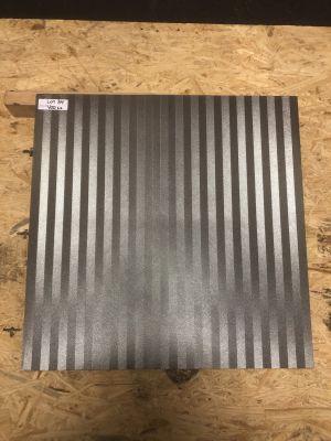 gray porcelain Metal Stripes by mytile