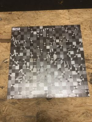 gray porcelain Metal Mix by mytile
