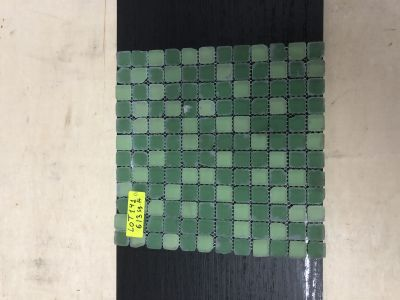 green glass Tumbled Green Mix by mytile
