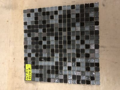 black glass Galaxy Square Black by mytile