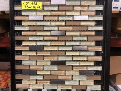 tan glass Galaxy Brick Beige by mytile