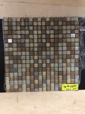 tan glass Galaxy Square Beige by mytile