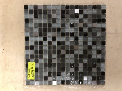 black glass Galaxy Square Black by mytile