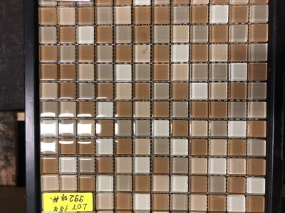 beige glass Graduation Mix Beige #3 by mytile