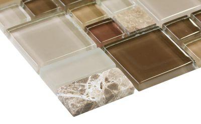 brown, gold, tan glass Mosaic Cristallo Pietra Terra Multi