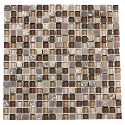 brown, gold, tan glass Mosaic Cristallo Pietra Terra Mix