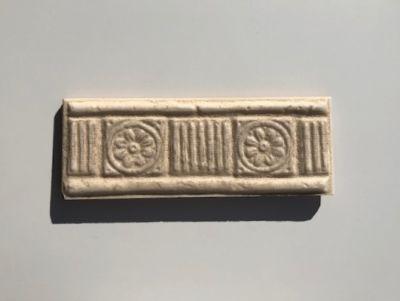 beige ceramic LISTELO ISABELA BEIGE by azulev