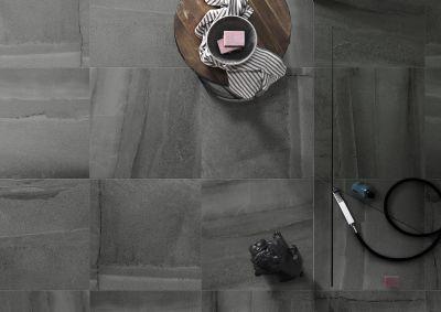 black, gray, tan porcelain Fossil Titanium 24x24