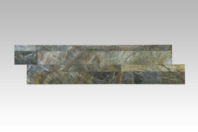 black, gold, gray, green slate Stacking Stone Tile | Burning Forest