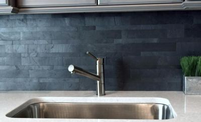 black, gray slate Mongolian | stacking stone wall tile