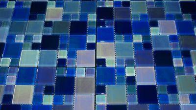 blue glass Space Blue 1x1 and 2x2 Iridescent Blue Blend