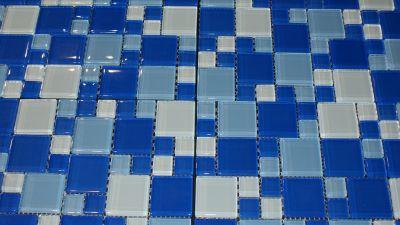 blue glass Splash 1x1 and 2x2 Blue Blend