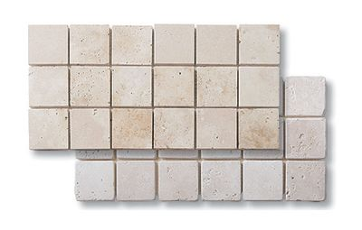 brown, tan marble Travertine Classico 2x2 Tumbled