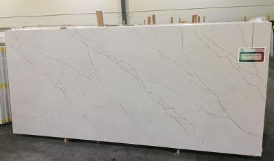gray, white, gold quartz OQ26 Calacatta Carina by one quartz by dal-tile