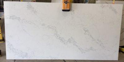 gray, white quartz OQ11 Calacatta Lyra by one quartz by dal-tile