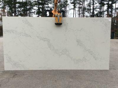 gray, white, beige quartz OQ11 Calacatta Lyra by one quartz by dal-tile