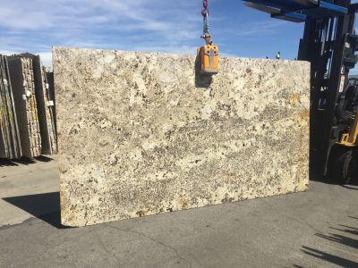 blue, gold, tan granite Alaska White