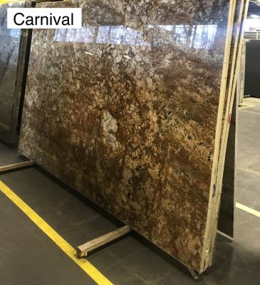 brown, orange, tan, beige granite Carnival