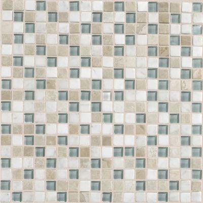 green, tan, white, beige glass Whisper Green Blend by dal tile corporation