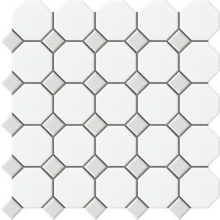 gray, white ceramic White/light Grey Matte by dal tile corporation