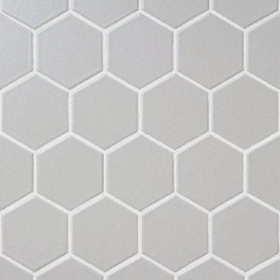 gray ceramic Keystone Hex Desert Gray by dal tile corporation