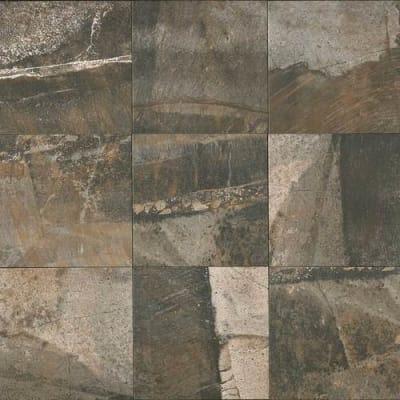 brown, gray, tan ceramic Porada Rich Brown by daltile