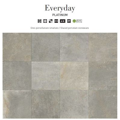 gray, beige porcelain Everyday Platinum 12x24 by edilcuoghi