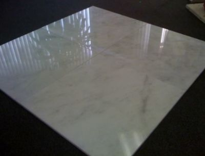 gray, white marble White Carrara Marble Tiles