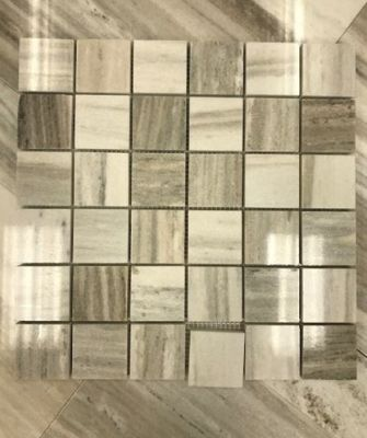 "brown, tan, white stone Palisandra 2"" x 2"" Mosaic Marble Tiles"