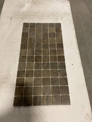 brown, gray, green ceramic Multi Green Mosaic
