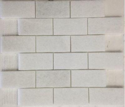 """white marble White Carrara 2"""" x 4"""" Marble Tiles"""