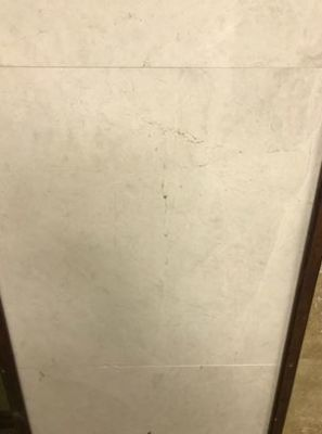 "white marble Alaskan White Brushed Marble Tiles 5/8"" Thick"