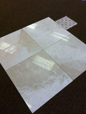 """white marble Alaskan White Fumeli Marble Tiles 5/8"""" Thick"""