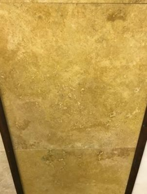 "gold, tan, yellow marble Golden Sienna Travertine (Filled) Marble Tiles 5/8"" Thick"