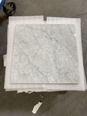 gray, white marble White Carrera