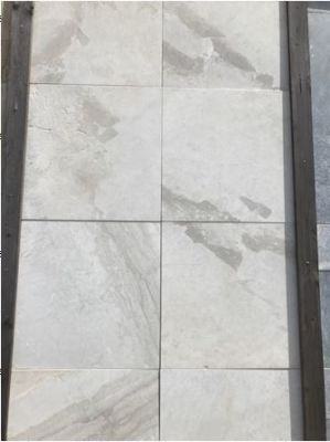 gray, white marble Isis Beige Brushed Marble Pavers