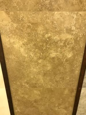 brown, tan marble Noche Travertine Filled Marble Tiles