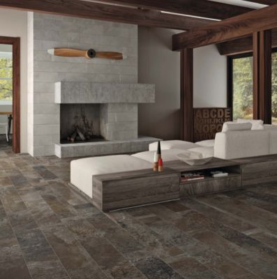 black, brown, gray, tan porcelain Piceous Honed by stonepeak