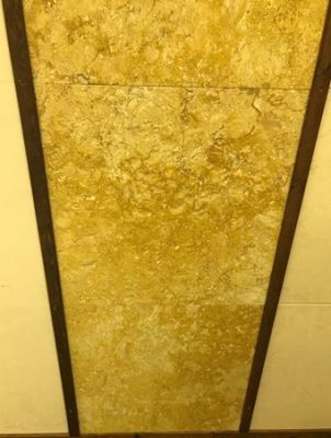 "yellow marble Jerusalem Ramon Gold Marble Tiles  5/8"" Thick"