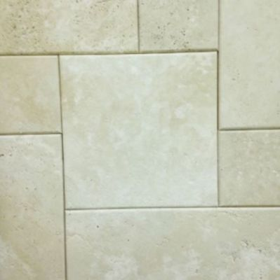 gray, white marble Tivoli Cream  Pillowed Edge Brushed Marble Tiles