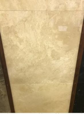 tan, white marble Ivory Travertine Filled Marble Tiles