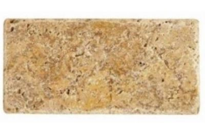 brown, tan, white marble Scabos Travertine Tumbled Marble Tiles