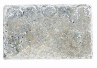 blue, gray, white marble Silver Travertine Tumbled Marble Tiles