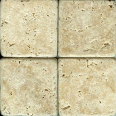 tan, white marble Ivory Travertine Tumbled Marble Tiles