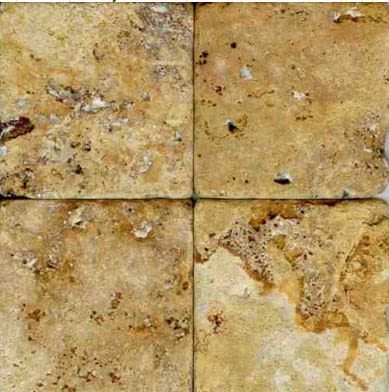 brown, white, yellow marble Gold Travertine Tumbled Marble Tile